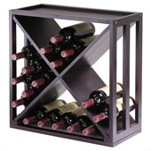 Winsome Kingston Modular and Stackable X Wine Cubby in Espresso