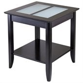 Winsome Syrah Solid Wood End Table in Espresso