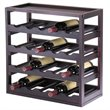 ADD TO YOUR SET: Winsome Kingston Modular and Stackable 20 Bottle Wine Cubby in Espresso