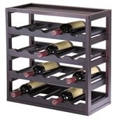 Winsome Kingston Modular and Stackable 20 Bottle Wine Cubby in Espresso