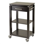 Winsome Linea Kitchen Cart in Espresso