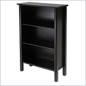 Winsome Liso 3 Shelf 44H Wood Bookcase in Espresso