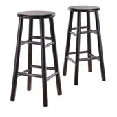 Winsome 30 Bar Stools in Espresso (Set of 2)
