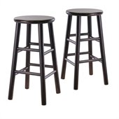 Winsome 24 Counter Height Bar Stools in Espresso (Set of 2)