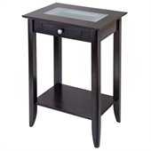 Winsome Syrah Solid Wood End Stand in Espresso