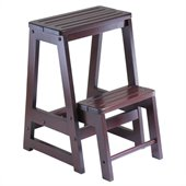Winsome Double Step Stool in Antique Walnut