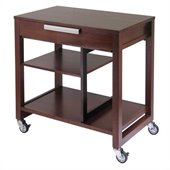 Winsome Mobile Beechwood Computer Desk in Antique Walnut