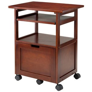 Winsome Piper Mobile Printer Stand in Walnut