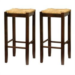 Winsome Regalia 29 Bar Stools in Antique Walnut (Set of 2)