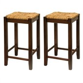 Winsome Regalia 24 Counter Height Bar Stools in Antique Walnut  (Set of 2)