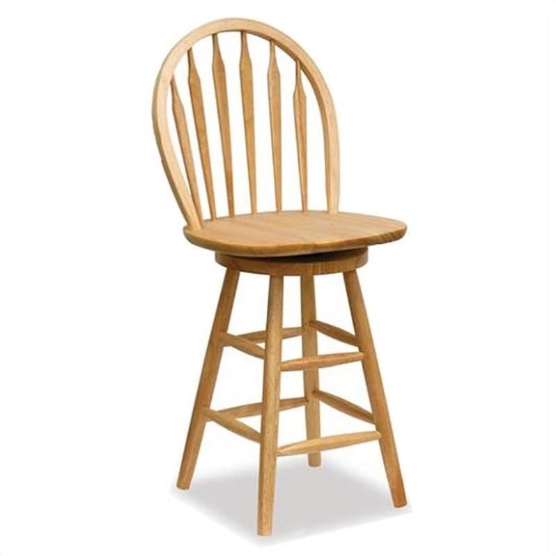 Winsome Wood 24 Quot Windsor Swivel Seat Natural Bar Stool Ebay