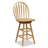 Winsome Wood 24 inch Windsor Swivel Seat Bar Stool Natural