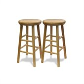 Winsome Basics 24 Beechwood Counter Height Swivel Bar Stools (Set of 2)