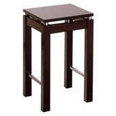 Winsome Linea 24 Counter Height Bar Stool in Espresso