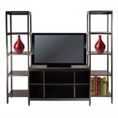 Winsome Hailey 3-Piece TV Stand Shelf Set in Espresso