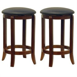 Winsome 24 Counter Height Swivel Bar Stools (Set of 2)