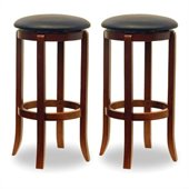 Winsome 30 Swivel Bar Stools in Walnut (Set of 2)