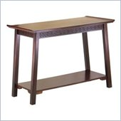 Winsome Chinois Solid Wood Console Table in Antique Walnut