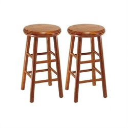 Winsome Windsor Swivel Counter Stools in Cherry (Set of 2)