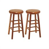 Winsome Windsor 24 Swivel Counter Stools in Cherry (Set of 2)