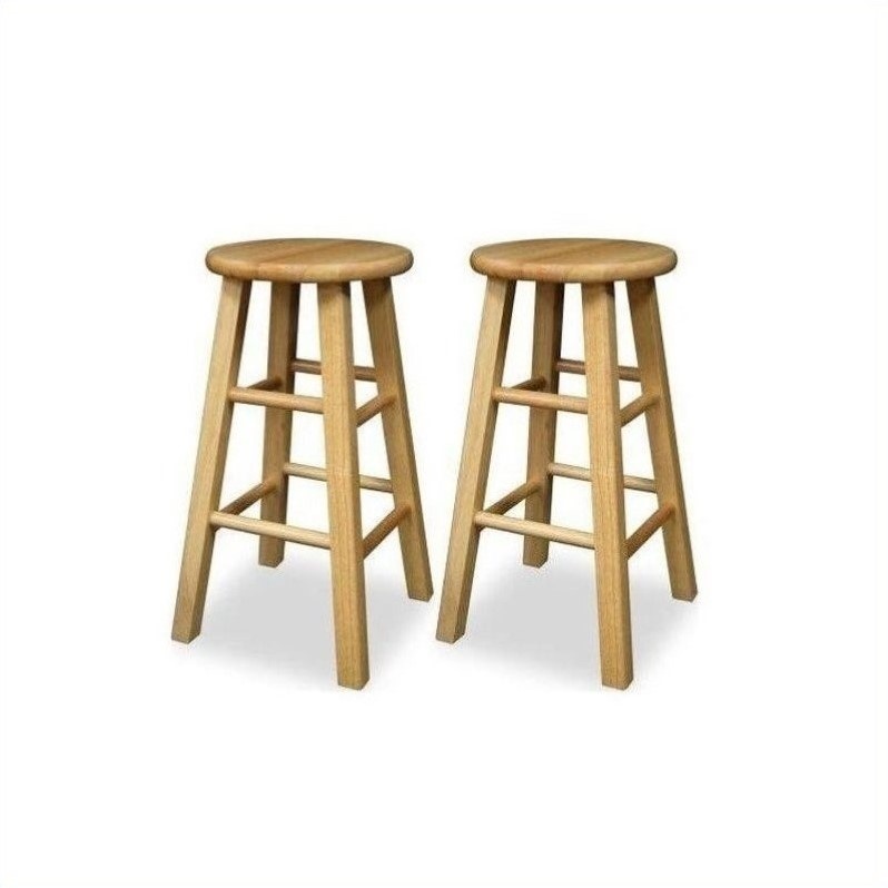 Winsome 24 Quot Counter Height Natural Set Of 2 Bar Stool Ebay