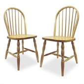 Winsome Windsor Dining Wood Side Chairs in Natural Finish (Set of 2)