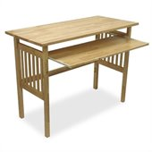 Winsome Wood Folding Computer Desk in Natural Beechwood