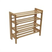 Winsome 4 Tiers Closet Organizer Shoe Rack in Natural Beechwood