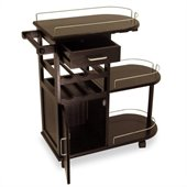 Winsome Entertainment Cart in Espresso Beechwood