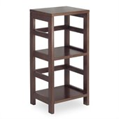 Winsome 2 Section Shelving Unit in Espersso Beechwood