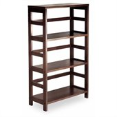Winsome Leo 3-Section Wide Storage Shelf in Espresso