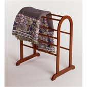 Winsome Quilt Rack Closet Organizer in Antique Walnut