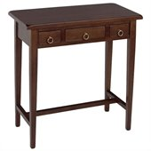 Winsome Regalia 3 Drawer Hall Table in Antique Walnut - Solid Wood