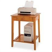 Winsome Solid Wood Printer Stand / End Table in Honey