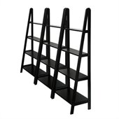 Winsome 4 Tier Wall Bookcase Unit in Espresso Beechwood