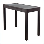 Winsome Darrel Computer Table with Glass Top in Black Finish