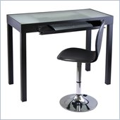 Winsome Darrel Computer Table and Swivel Chair Set in Black Finish