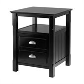 Winsome Timber Nightstand in Black Finish