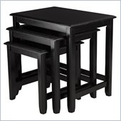Winsome Parker Nesting Table Set in Black Finish