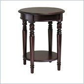 Winsome Whitman Round End Table with Carved legs in Cappuccino Finish