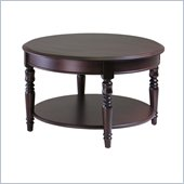 Winsome Whitman Round Coffee Table in Cappuccino