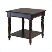 Winsome Whitman Square End Table in Cappuccino Finish