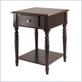 Winsome Whitman Square Accent Table in Cappuccino Finish