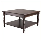 Winsome Whitman Square Coffee Table in Cappuccino Finish