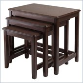 Winsome Trina Nesting Table Set in Cappuccino Finish