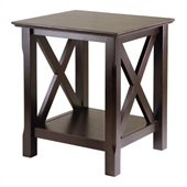 Winsome Xola End Table in Cappuccino Finish