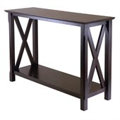 Winsome Xola Console Table in Cappuccino Finish