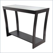 Winsome Radius Console Hall Table with Frosted Glass in Dark Espresso