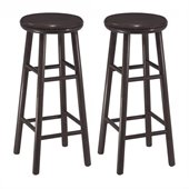 Winsome 30 Swivel Bar Stool in Dark Espresso Finish (Set of 2)