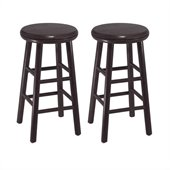 Winsome 24 Swivel Kitchen Stool in Dark Espresso Finish (Set of 2)